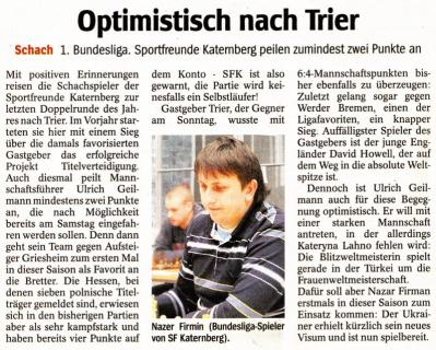 Optimistisch nach Trier